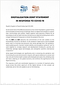 Digitalization Joint Statement in response to COVID-19