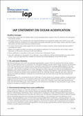 IAP Statement On Ocean Acidification (2009)