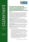 Homeopathic products and practices: assessing the evidence and ensuring consistency in regulating medical claims in the EU (2017)