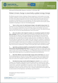 Global climate change is essentially a global energy change (2009)