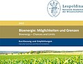 Leopoldina issues a critical statement on the use of bioenergy
