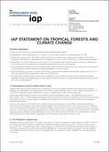 IAP Statement On Tropical Forests And Climate Change (2009)