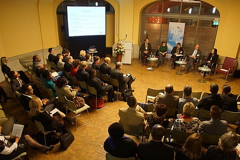 Panel discussion on the German-South African Year fo Science, March 2013, Berlin. Image: Michael Hoetzel for the Leopoldina.